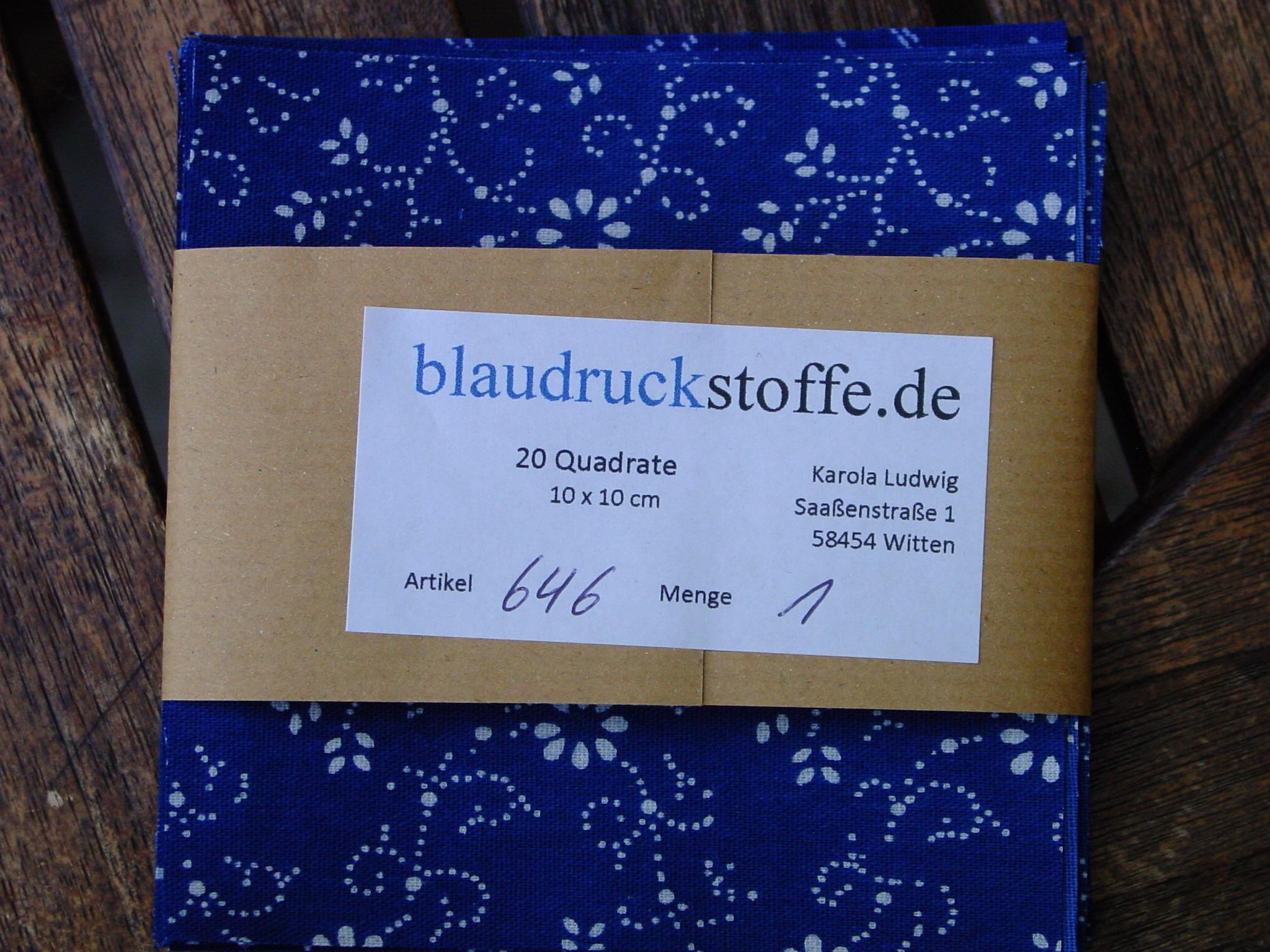 Blaudruck Patchwork-Stoffpaket 646-859