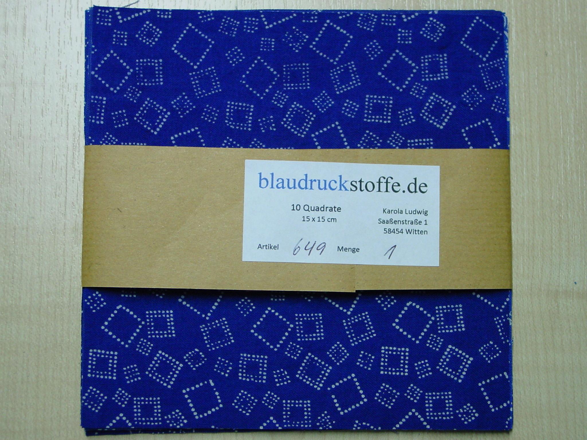 Blaudruck Patchwork-Stoffpaket 649-1003