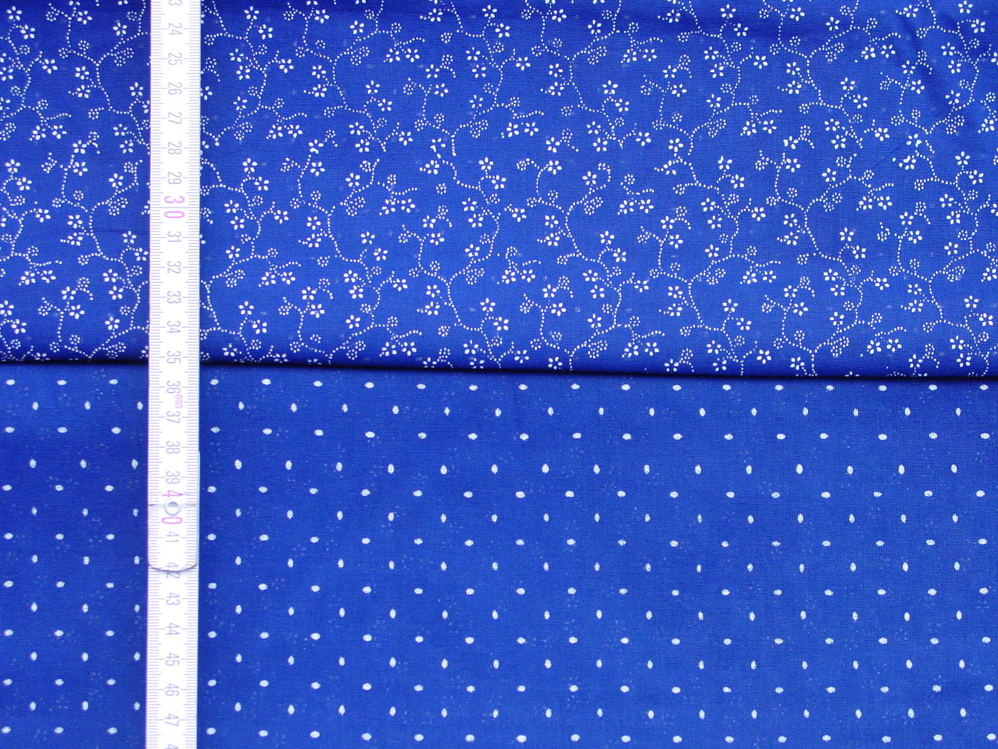 Doppeldruck-Blaudruckstoff 052-0