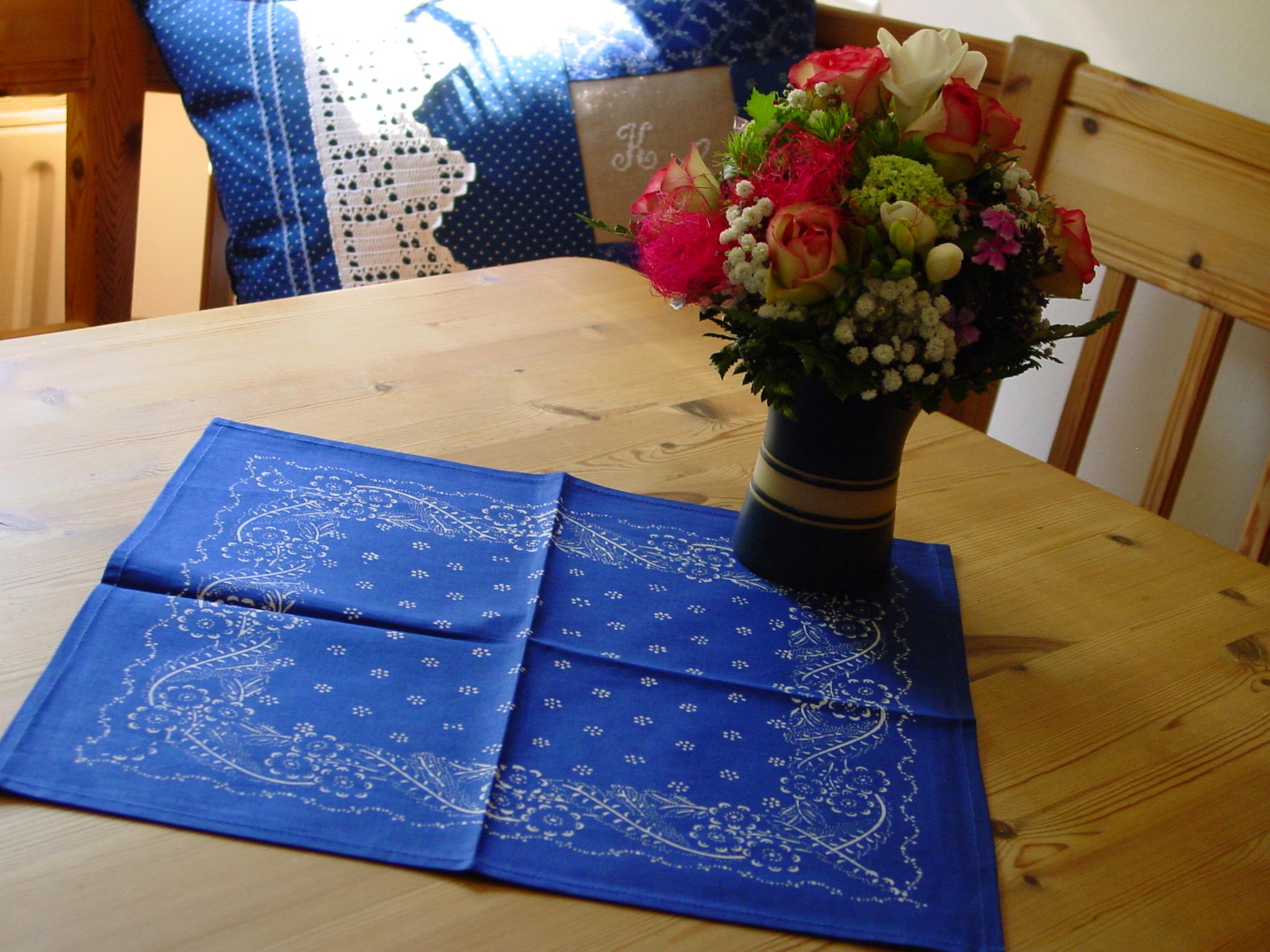 Blaudruck - Deckchen 6119-0