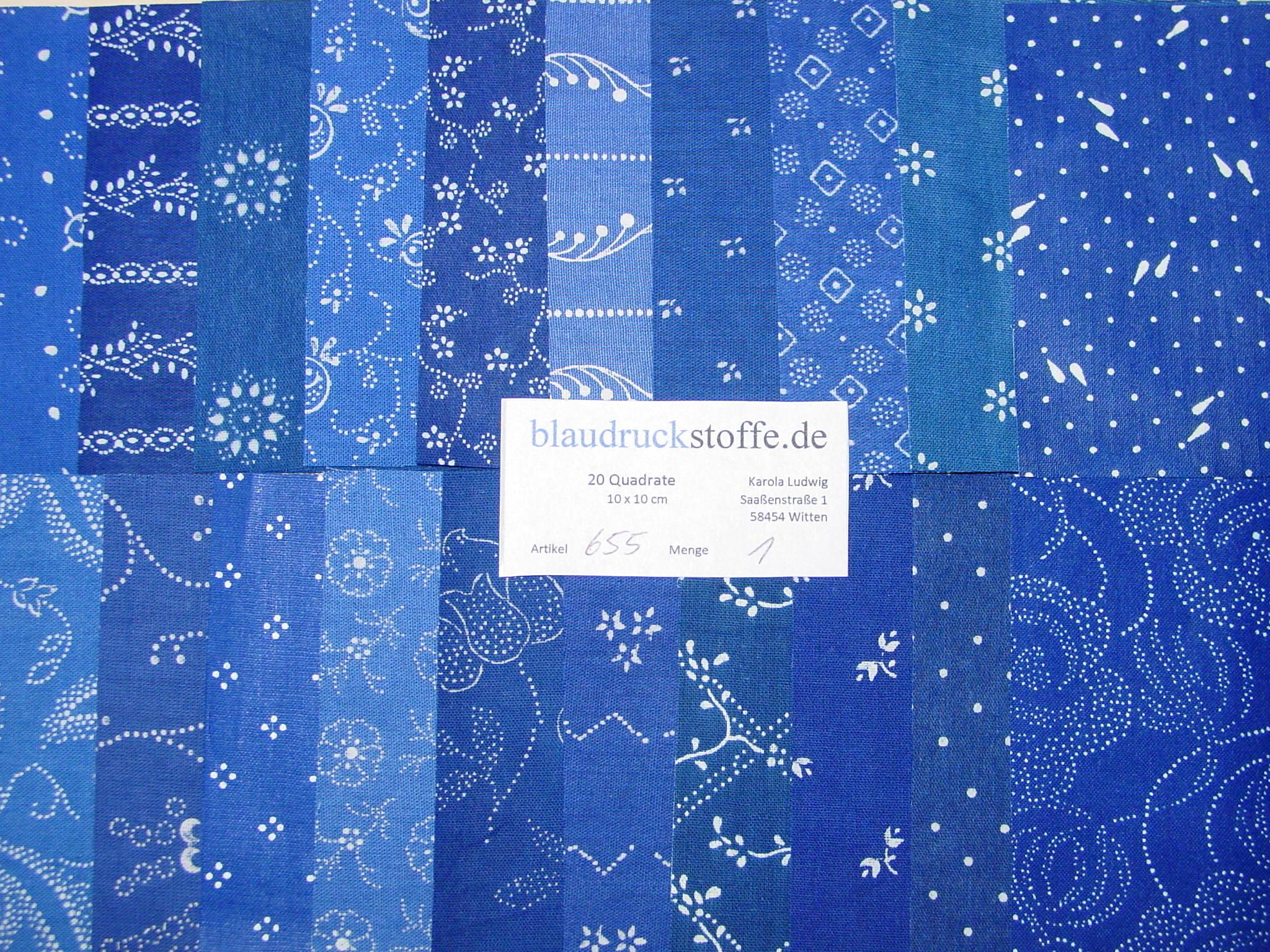 Blaudruck Patchwork-Stoffpaket 655-0