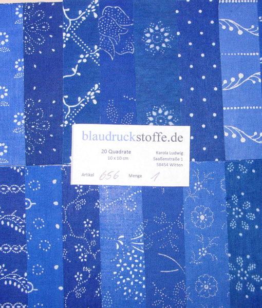 Blaudruck Patchwork-Stoffpaket 656-0
