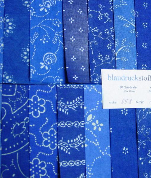 Blaudruck Patchwork-Stoffpaket 658-0