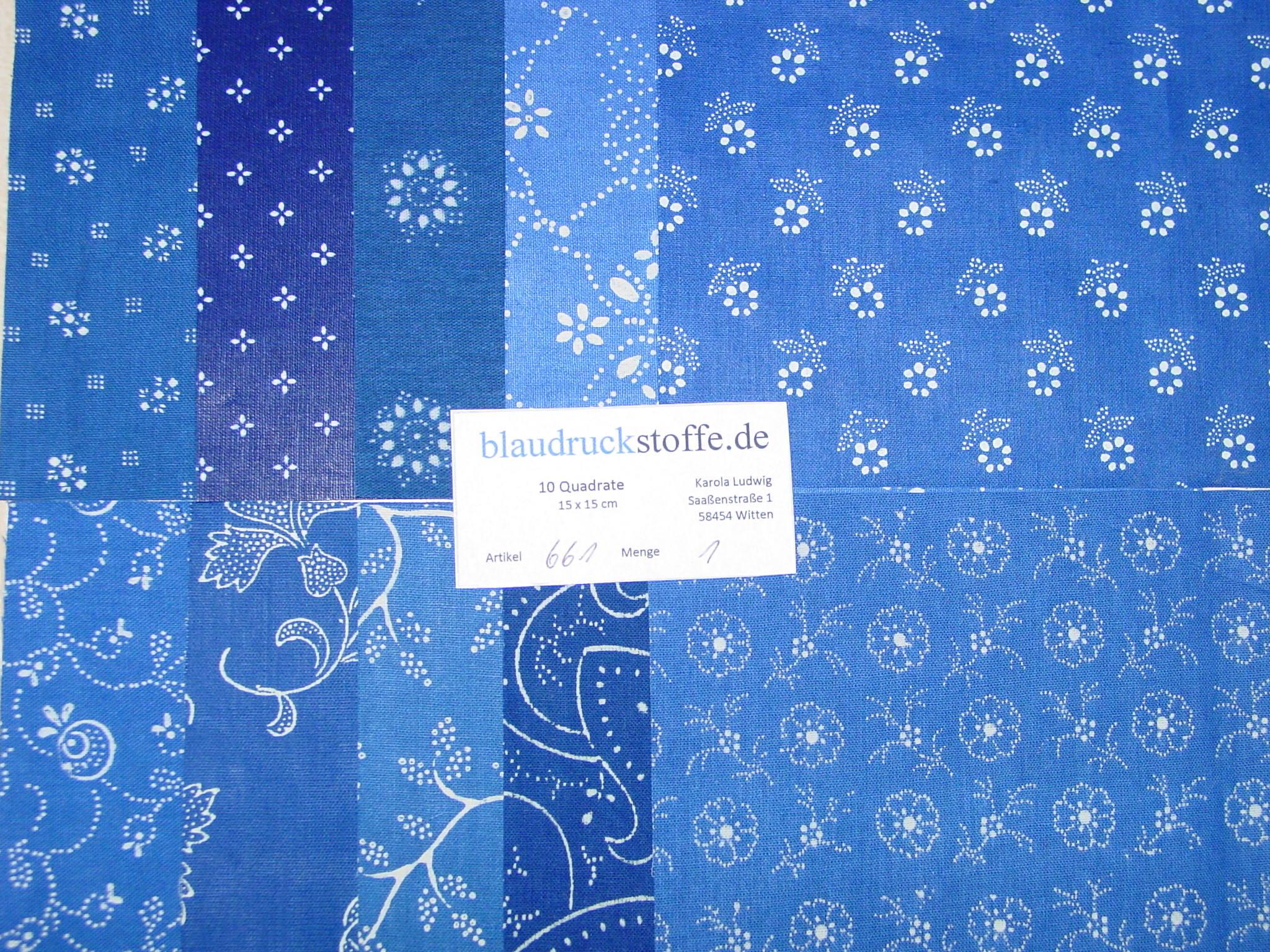 Blaudruck Patchwork-Stoffpaket 661-0