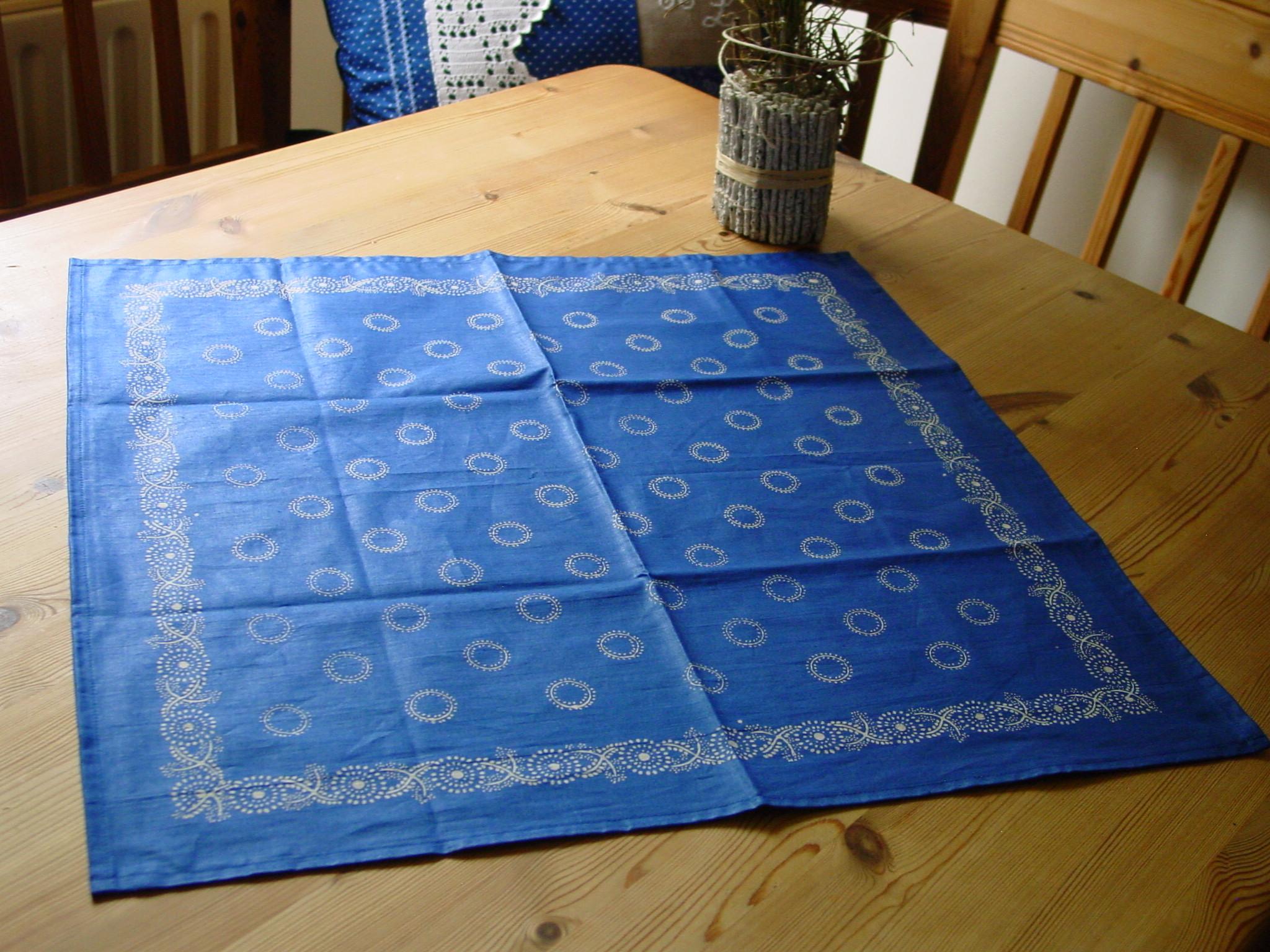 Blaudruck - Deckchen 6121-0