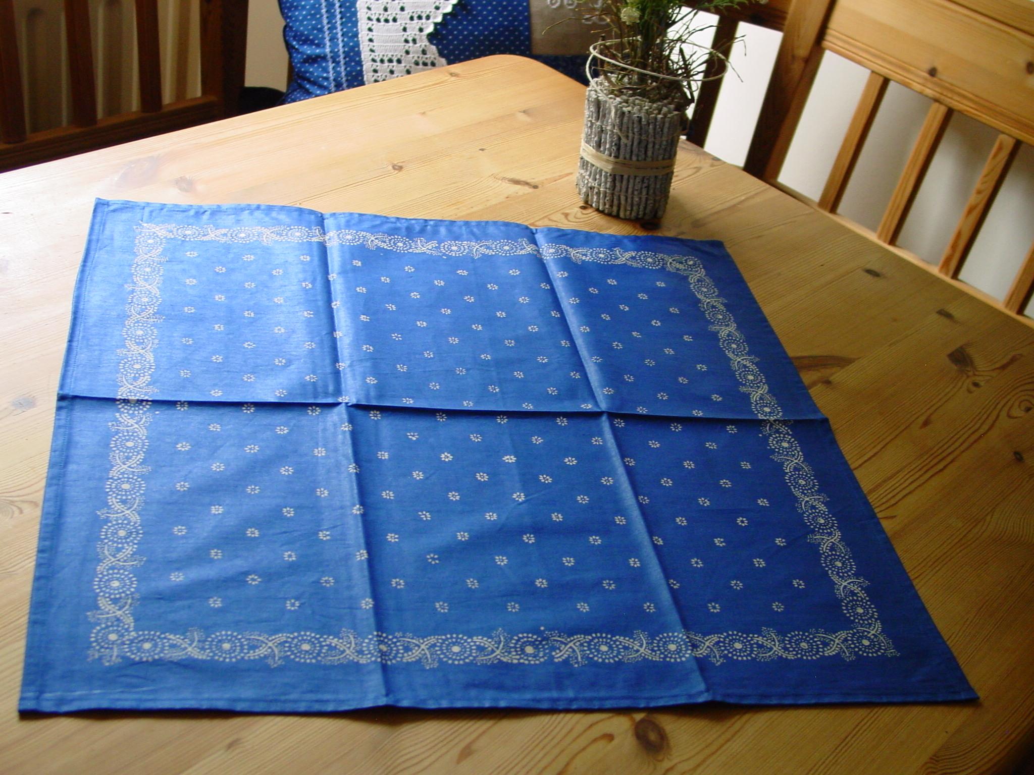 Blaudruck - Deckchen 6123-0