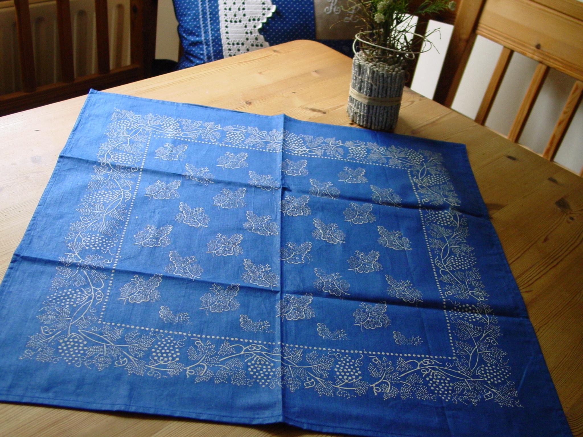 Blaudruck - Deckchen 6124-0