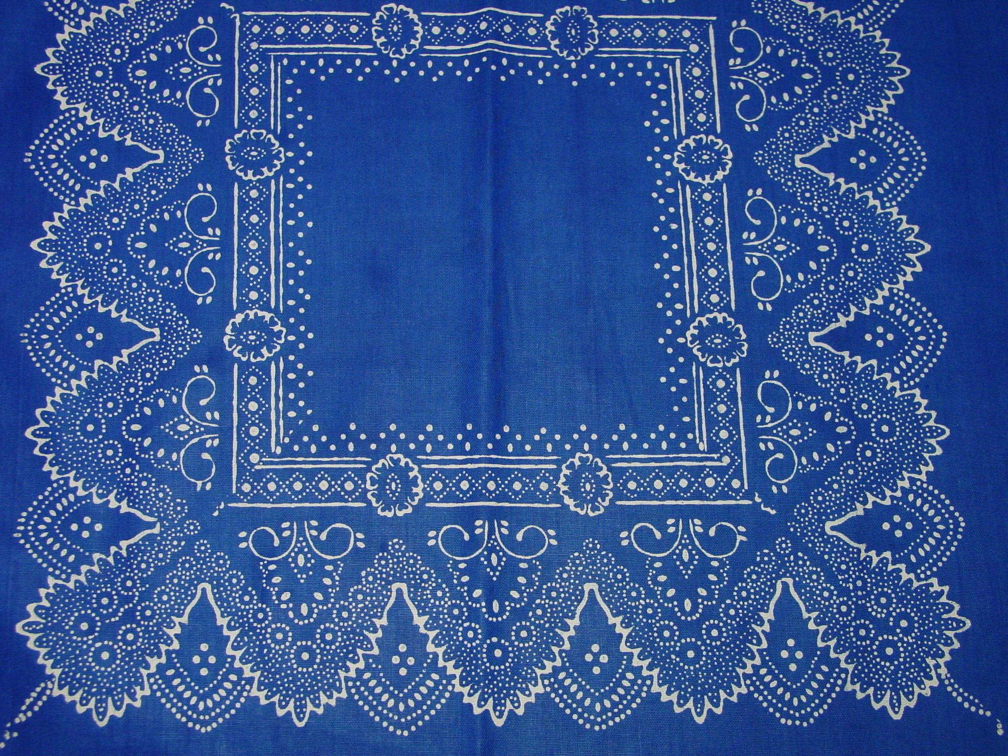 Blaudruck - Deckchen 6127-1227