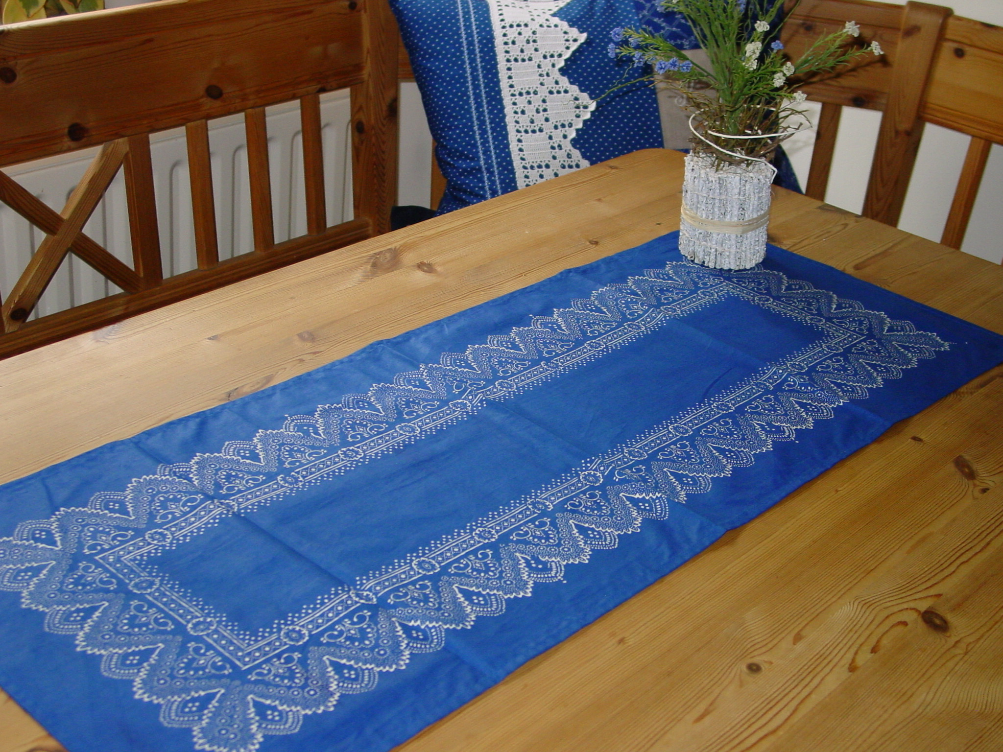 Blaudruck - Tischläufer 6223-0