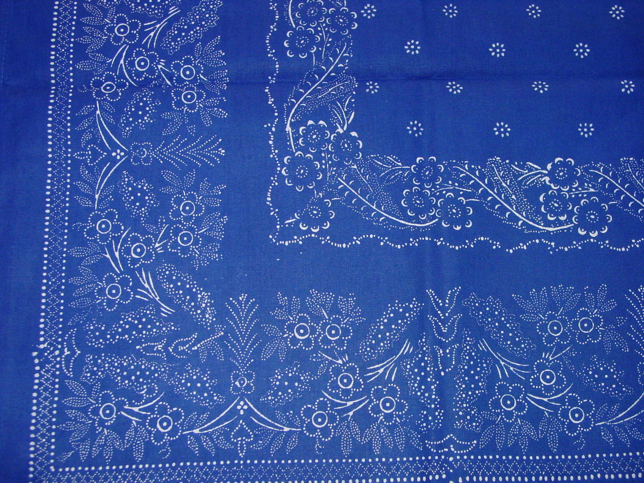 Blaudruck - Mitteldecke 6353-1167