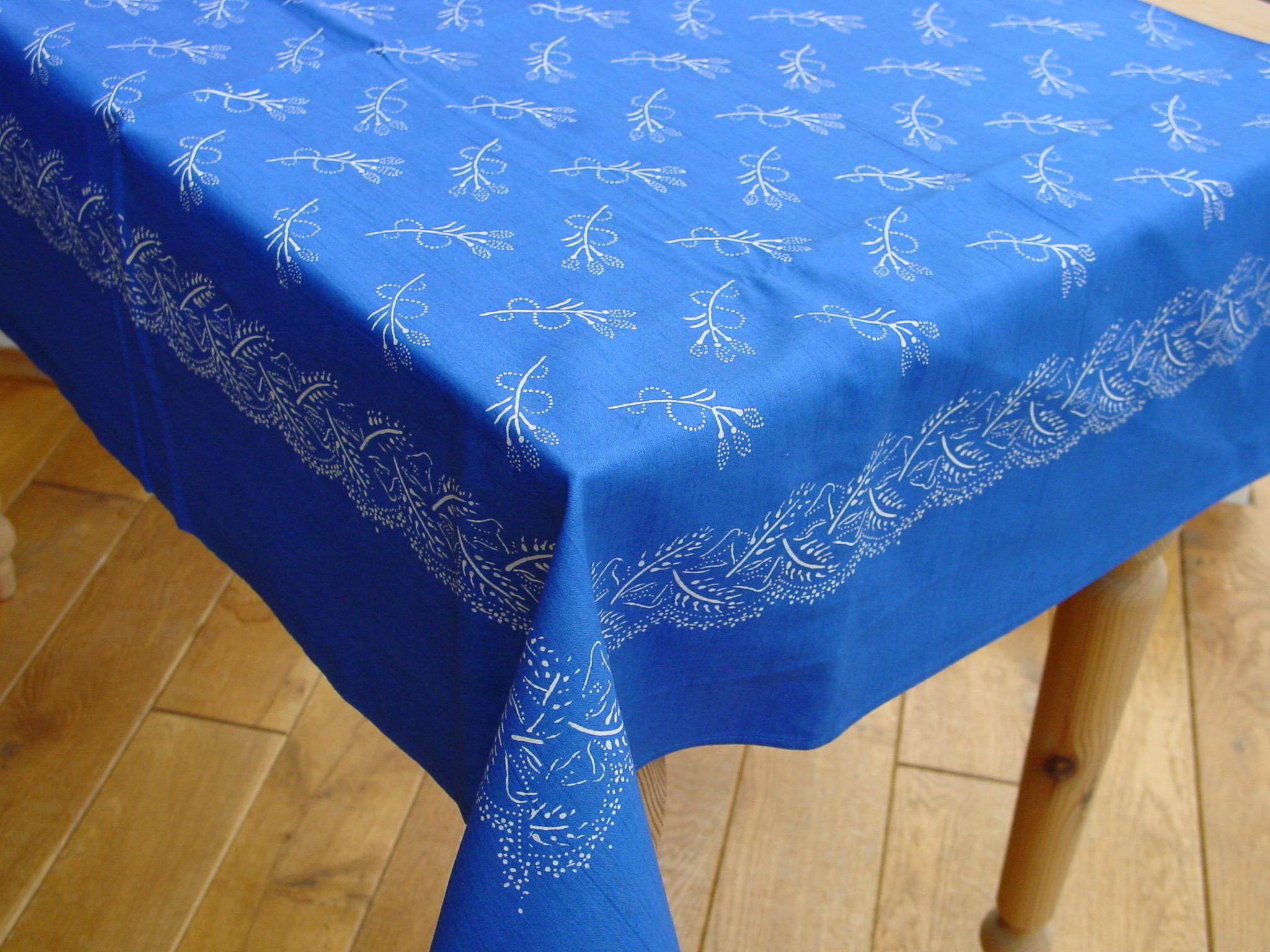 Große Blaudruck-Tischdecke 6477-0