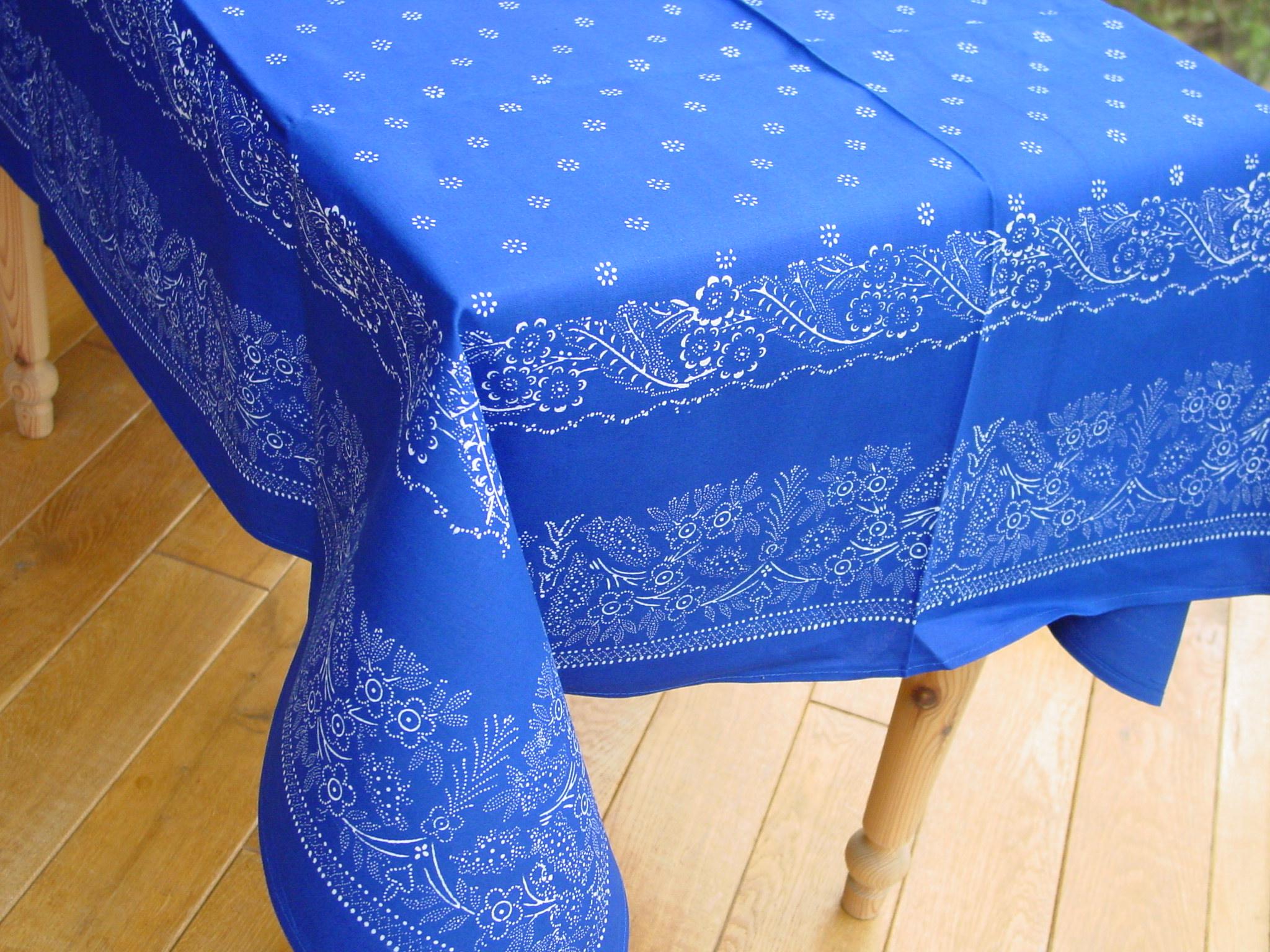 Große Blaudruck-Tischdecke 6481-0