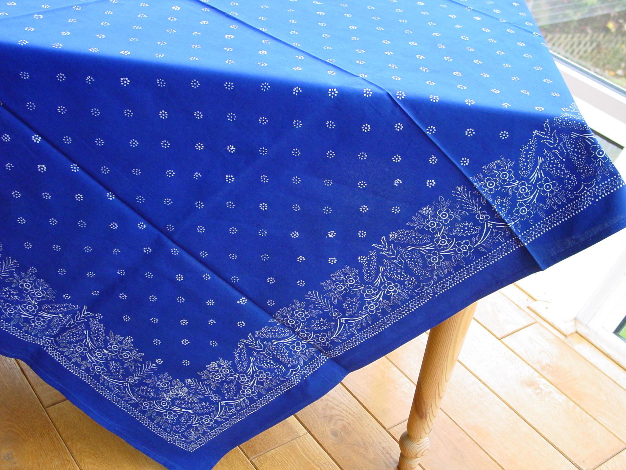 Große Blaudruck-Tischdecke 6483-0