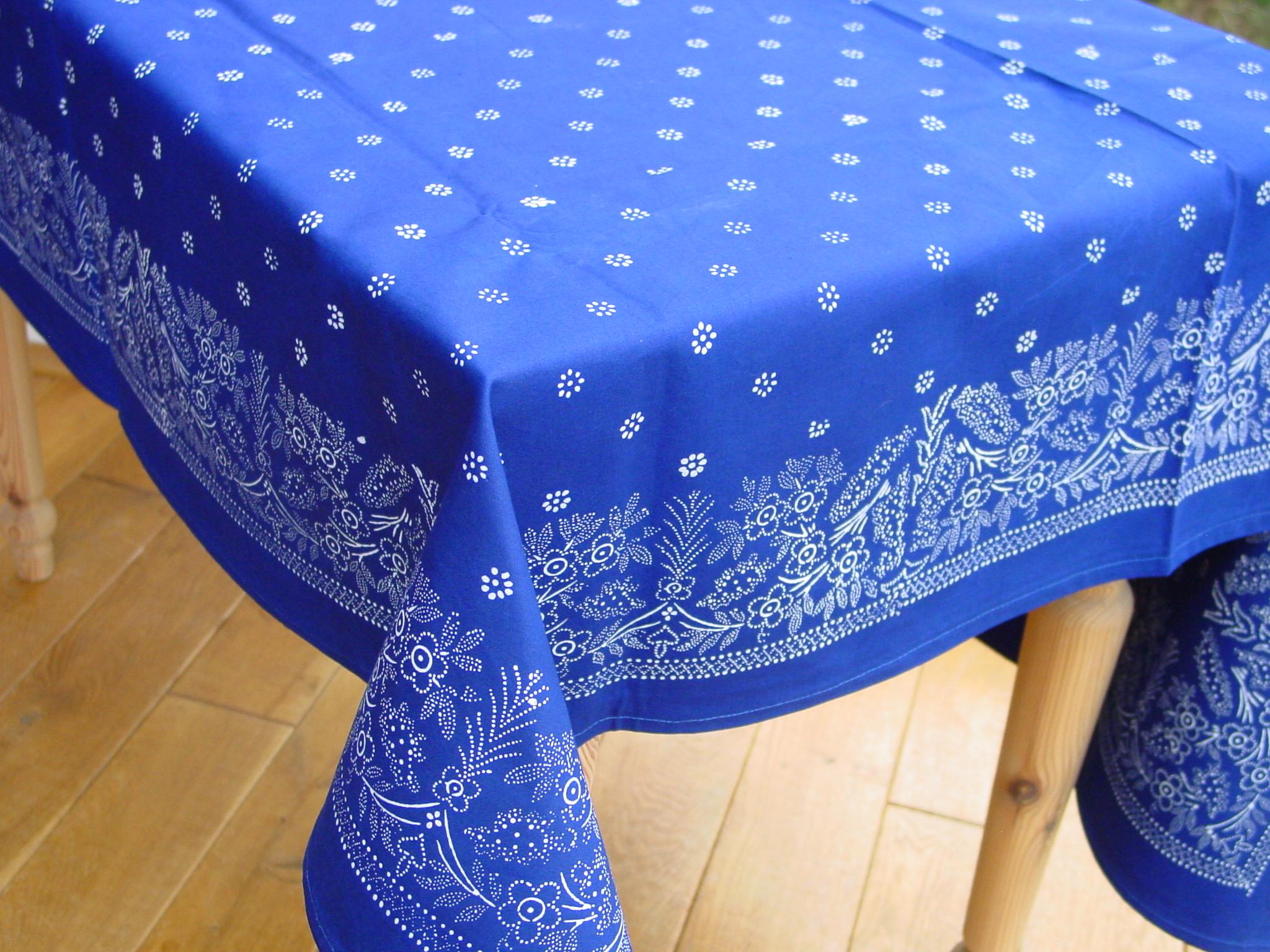 Große Blaudruck-Tischdecke 6487-0