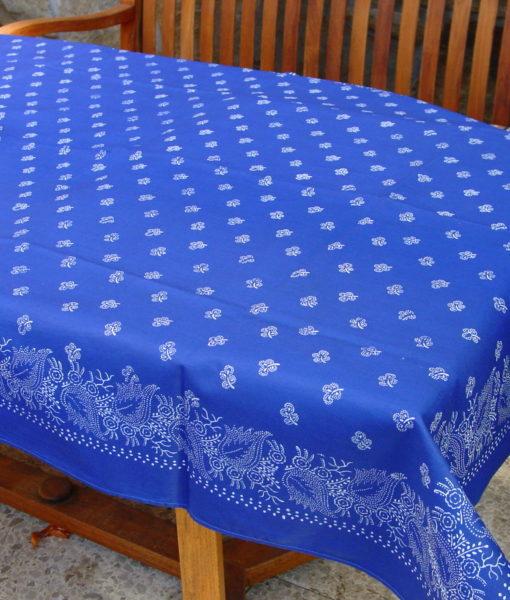 Große Blaudruck-Tischdecke 6492-1340