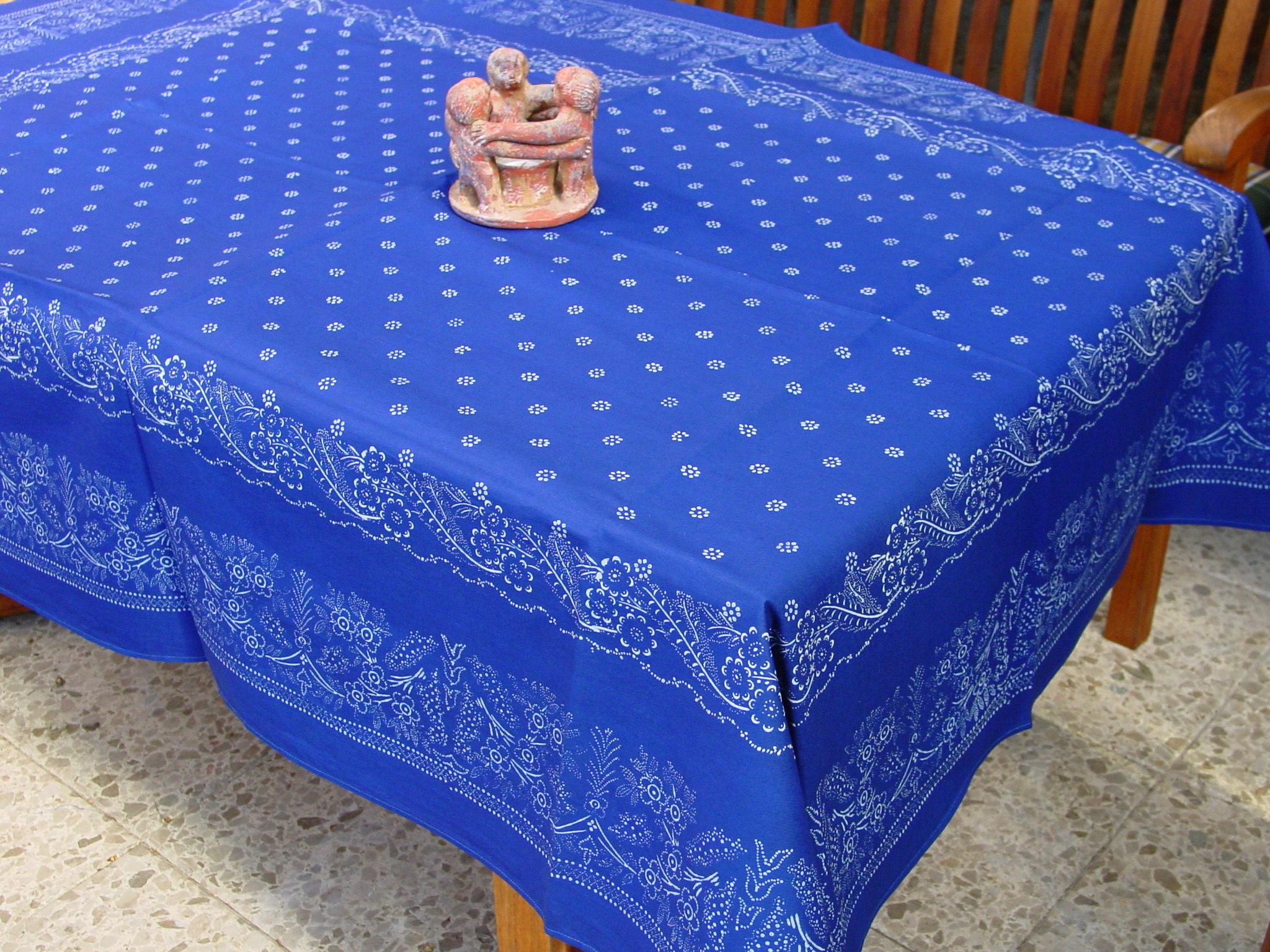 Große Blaudruck-Tischdecke 6493-1344