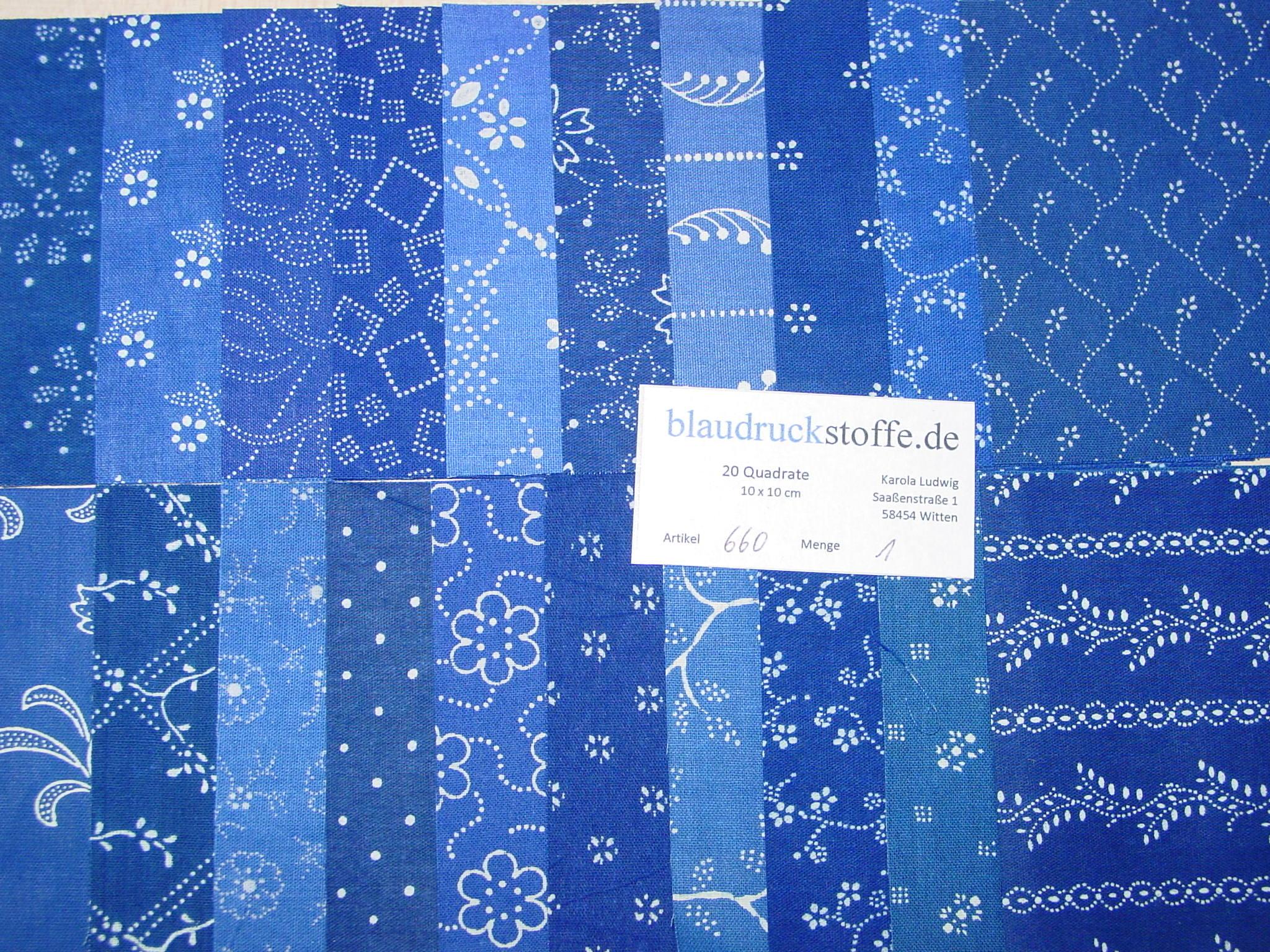 Blaudruck Patchwork-Stoffpaket 660-0