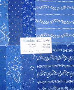 Blaudruck Patchwork-Stoffpaket 662-0